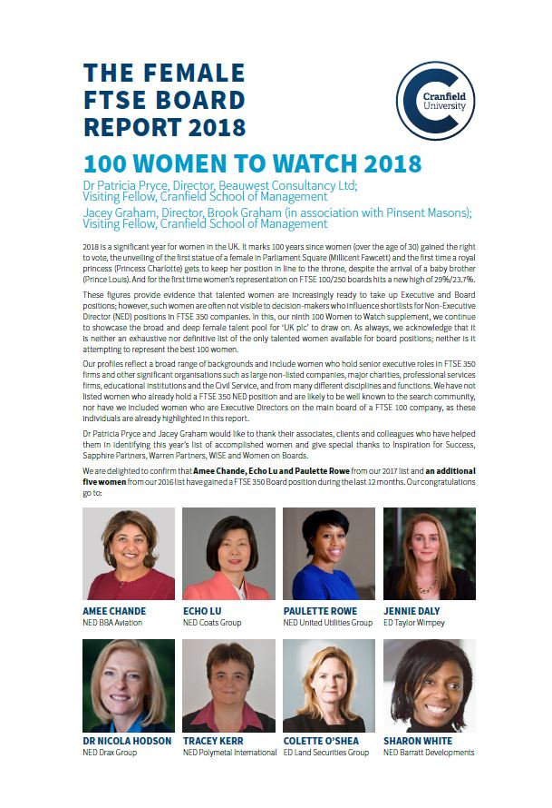 Cranfield Women to Watch 2016
